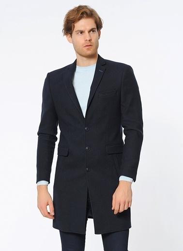 Wessi İngiliz Yaka Dar Kesim Klasik Palto Lacivert